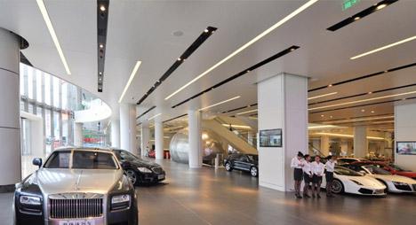 Akd Luxury Car Mall Opple Lighting Asia Pacific