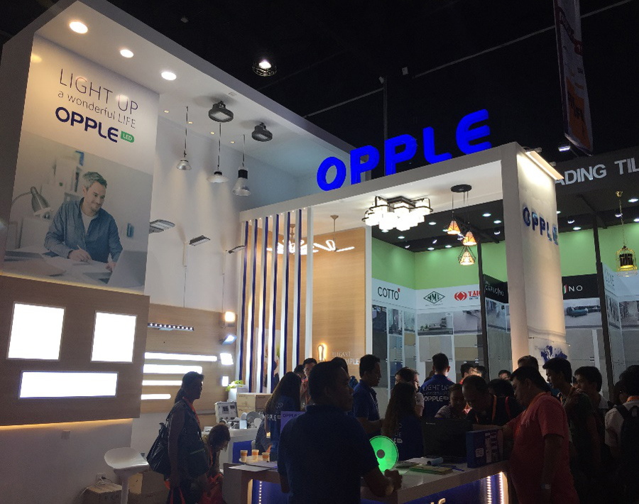 Exhibition Booths Kenya : Worldbex expo in philippines opple lighting asia pacific